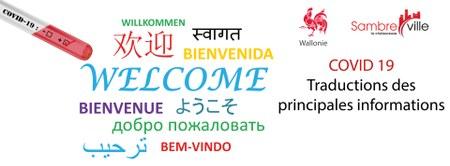 COVID 19 ! Informations de base traduites dans plusieurs langues !