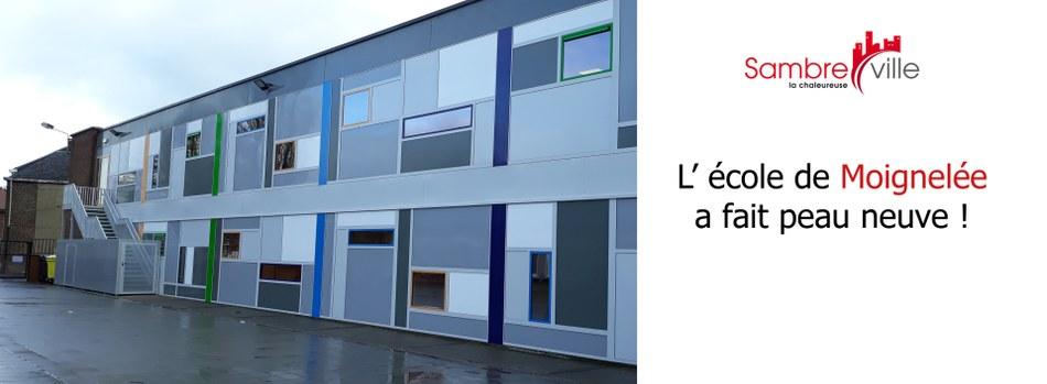 Retour sur les travaux de l'école communale de Moignelée !